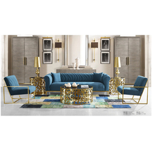 custom blue set design luxury chesterfield-sofa sofa for living room home <strong>furniture</strong>