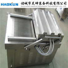 Meat, sea food, tofu,peanut,dry fish, pork, beef, rice used double chamber vacuum sealer
