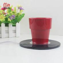 Professional design round electric coffee cup warmer