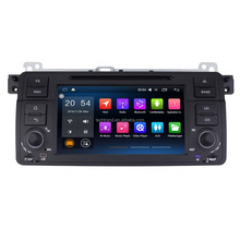 "7"" Android 2 Din Car DVD Radio QUAD CORE 16G 1024*600 GPS Navigator for BMW E46 1999-2005"