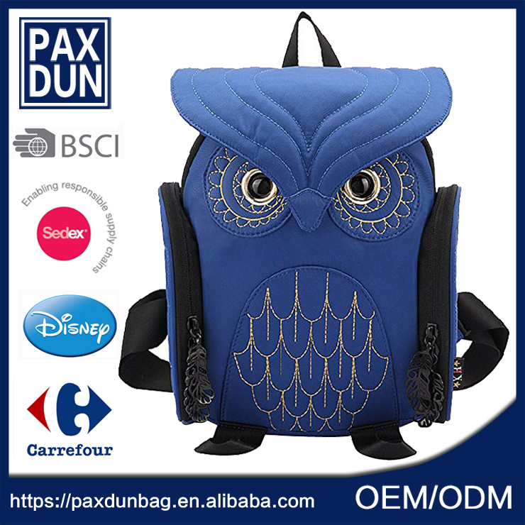 high quality fancy owl Bag <strong>School</strong> 2016 Backpack