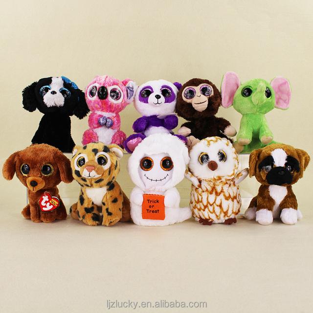 Sedex Factory wholesale Custom Cute Plush Animals Big Eyes toys for kids