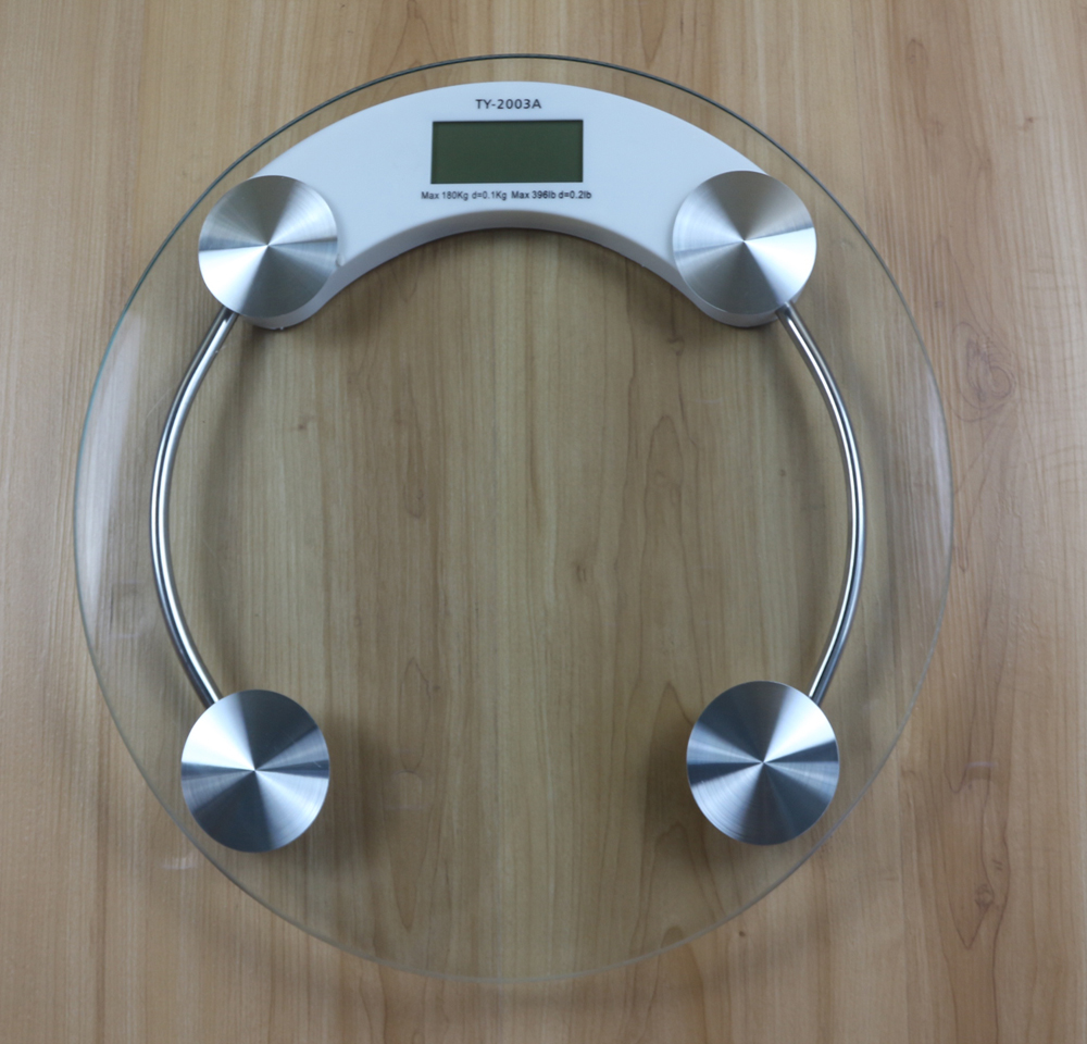 (TY-2003A)180kg 6mm thick glass LCD display digital bathroom scale