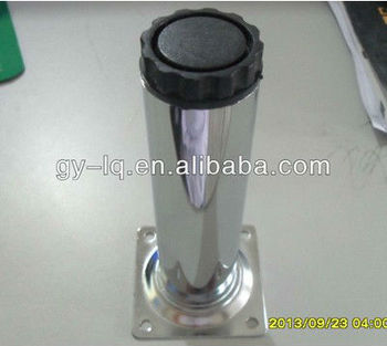 high quality 40mm diameter iron round tube chrome adjustable table leg