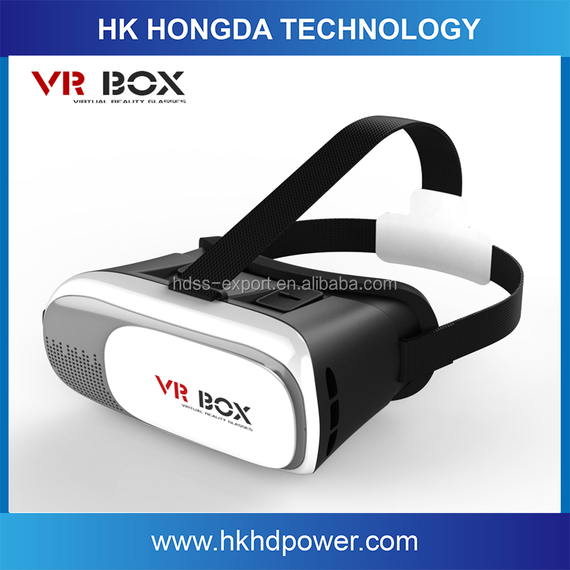 High Tech 2016 Google Cardboard Virtual Reality VR Headset 3d Glasses 2nd Generation 3D VR Box With Remote Control