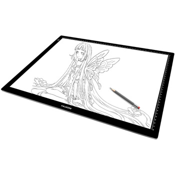 HUION snap frame high eveness portable 3d 8mm super slim advertising led drawing tracing pad