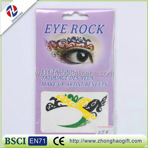 Wholesale high quality eco-friendly waterproof eye tattoo sticker