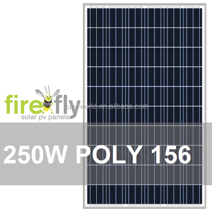 250W PV Solar Panel (Poly 156, Modules of A+/A Grade; CE, IEC, TUV, CEC, ISO 9001, ISO 4001, RoHS)