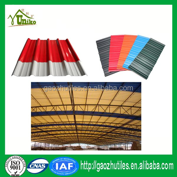 Middle East earthquake resistant building materials tiled roof pvc price