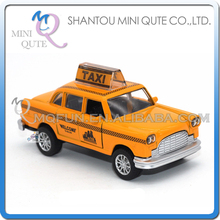Mini Qute 1:36 kid Die Cast pull back alloy music taxi car vehicle model car electronic educational toy NO.MQ 512