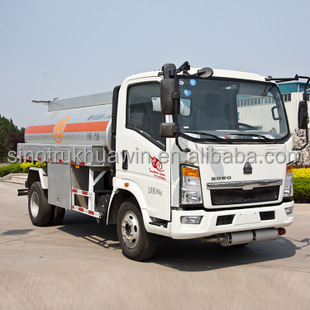 Popular SINOTRUK Howo fuel tank truck capacity 15000 litres right hand drive
