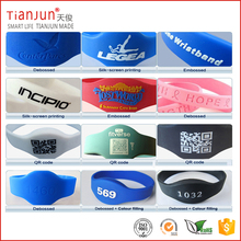 Printable two chips dual frequency passive nfc rfid silicone wrist band