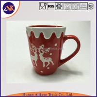 Wholesale from China factory supply cheap stoneware 3d Christmas mug with handle