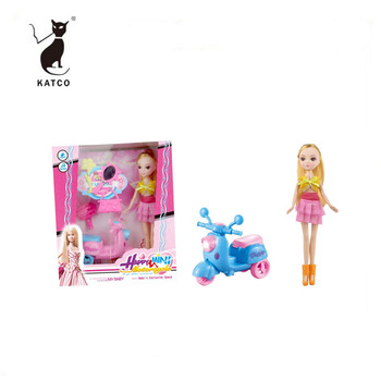 9 Inch Baby doll Fashion Doll Toys With Motorcycle For Children