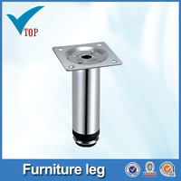Curved chrome metal wooden furniture feet