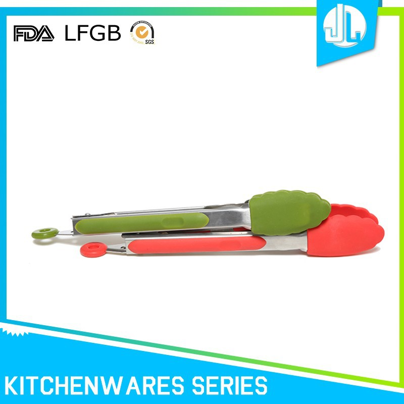Cheap colorful silicon kitchen useful egg food tong