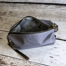 Personalized Waxed Canvas Mens Toiletry Bag