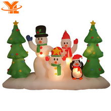 Funny Snowman, Inflatable Snowman Gifts, Lighted Outdoor Christmas Decorations