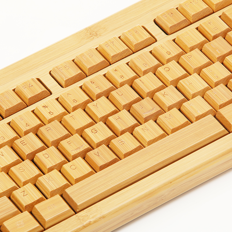 Hot bamboo computer wireless keyboard and mouse combo