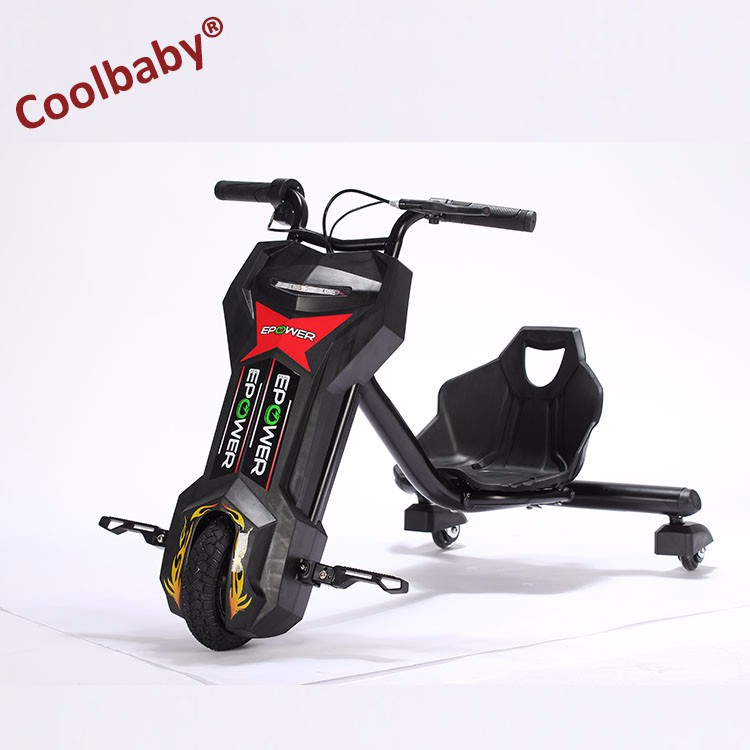COOLBABY 100W Kids and adult drift trike Double control Dfift trike 360 <strong>Electric</strong> Smart Drifting trike Scooter