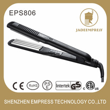 Factory price professional fast titanium 3 in 1 hair straightener and curling iron with temperature control EPS806