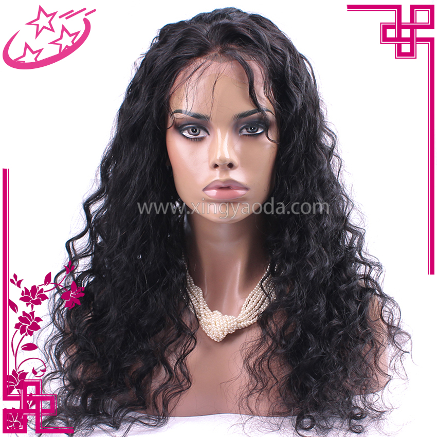 Soft Smooth Loose Wave Chinese Human Hair Full Lace Sew In Wig
