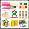 guangzhou factory montessori materials/high quality montessori toys/wood montessori for kid (1 set=116pcs) QX-177B