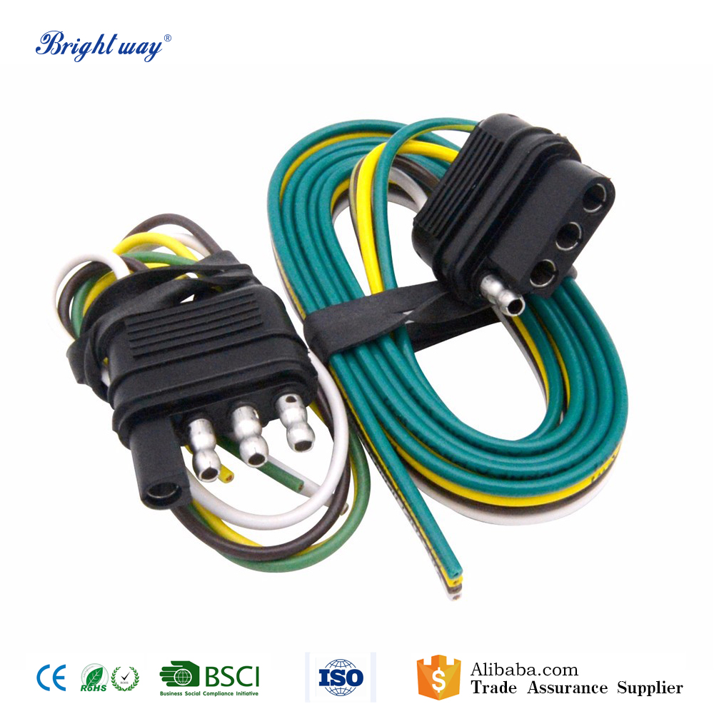 12v 4 pin trailer wiring plug connector harness buy trailer wiring connector,trailer wiring harness,trailer wiring plugs product on alibaba com 3 wire trailer wiring harness new