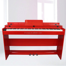 jinjiang jinyue factory red color electronic keyboard piano digital 88 keys