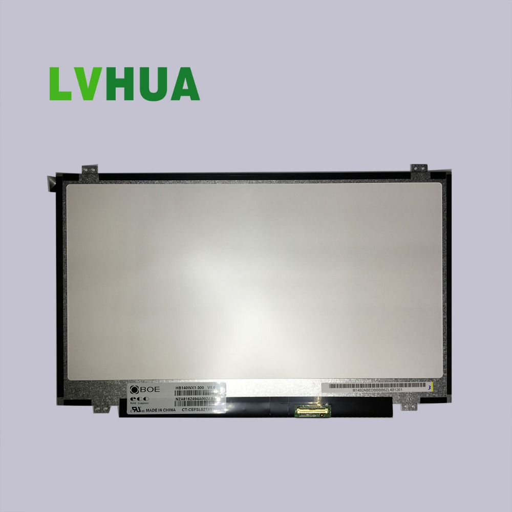 pantallas para laptop 14'' paper thin lcd for alienware 17 HB140WX1-300 LP140WH8-TLA1 for lenovo S40-70 price in china