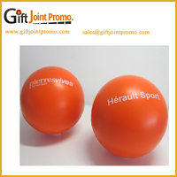 China Wholesale Custom LOGO Big Round PU Anti Stress Ball