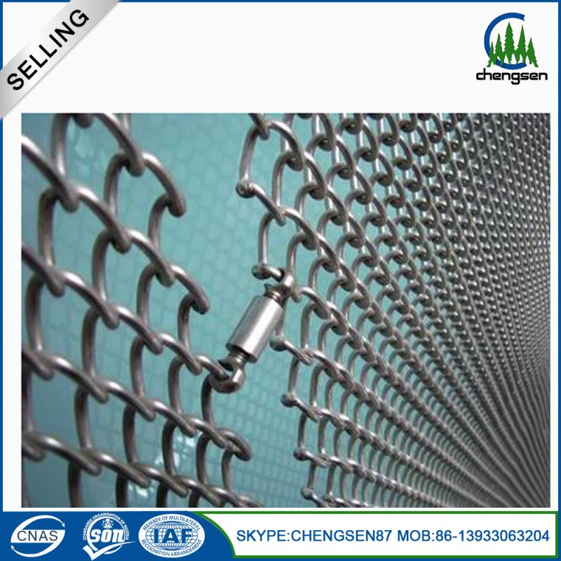 Nichrome decorative wire mesh fabric coil drapery