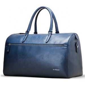 high quality italian customized real nice organizer travel blue mens leather duffle bag vintage oem luxury genuine