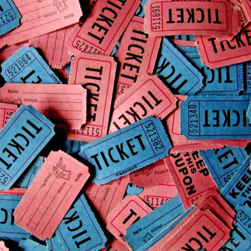 Wholesale Price Custom Raffle Ticket Roll Custom Color Ticket Printing
