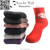 2015 dult newest fashion winter thermal thicken wool soft women student socks size41-46 wholesale low price