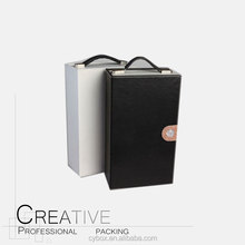 Dongguan Wholesale PU Leather Portable Wine Box