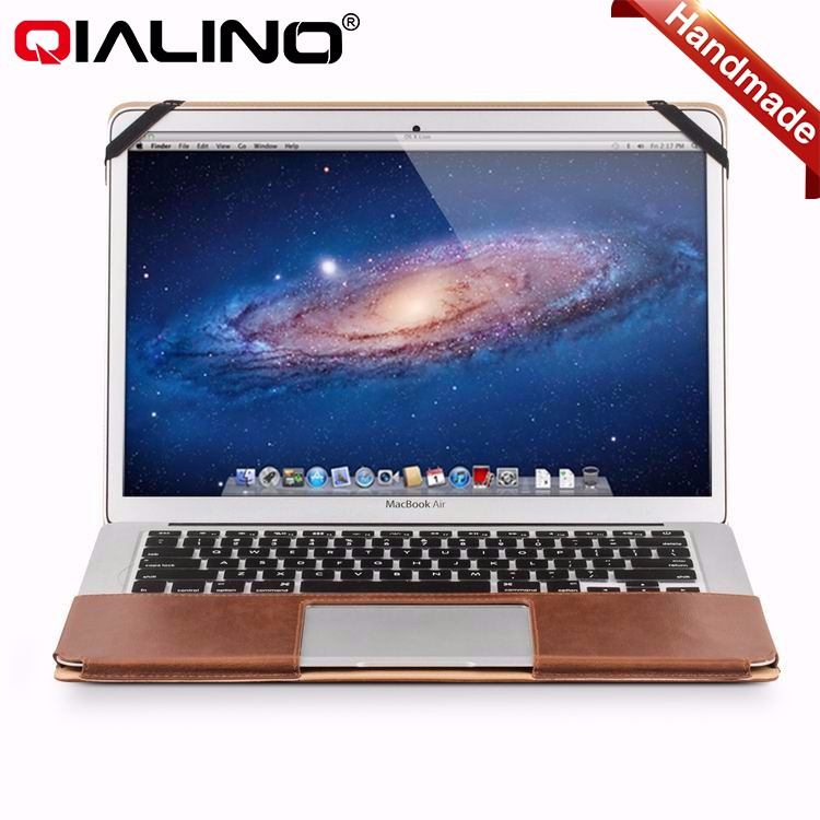 QIALINO Amazon Hot sale bags computer laptop bags leather briefcase bag for macbook 12/13/15 inch