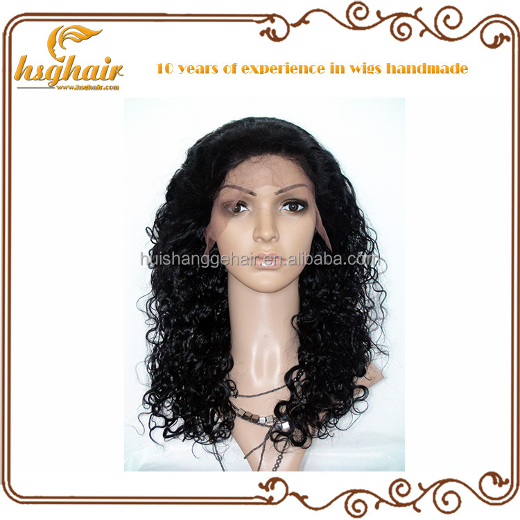 100 Virgin Afro Kinky Curly Hair Full Lace Wig for Black Women