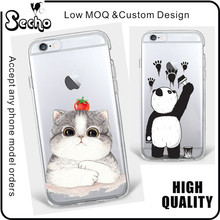 For iPhone 6 Plus Cartoon Case Transparent TPU Cases Thicken Anti-Slip Good Grip Protective Case for iPhone 7 5 5S 5C SE
