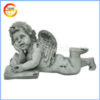resin carved lovely little angels models wings for children gift and home decoration