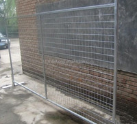 Hot dipped galvanized removable temporary hoarding fence