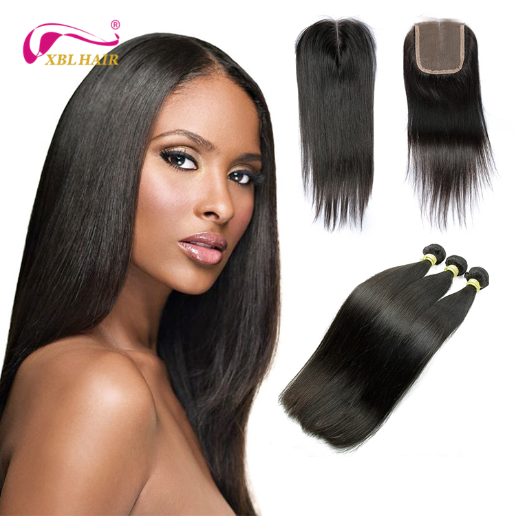 On sale natural color tangle free shedding free silky straight wave hair weaving