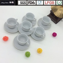 ceramic tea cup and saucer coffee cup plain white porcelain cup with saucer dessert tray candy sugar dish cake plate 3.1oz
