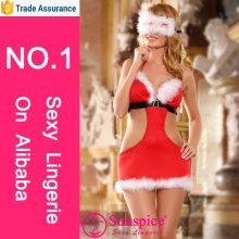 New design christmas costume santa claus costume sexy woman lingerie