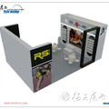 Wooden exhibition stand design china display stand