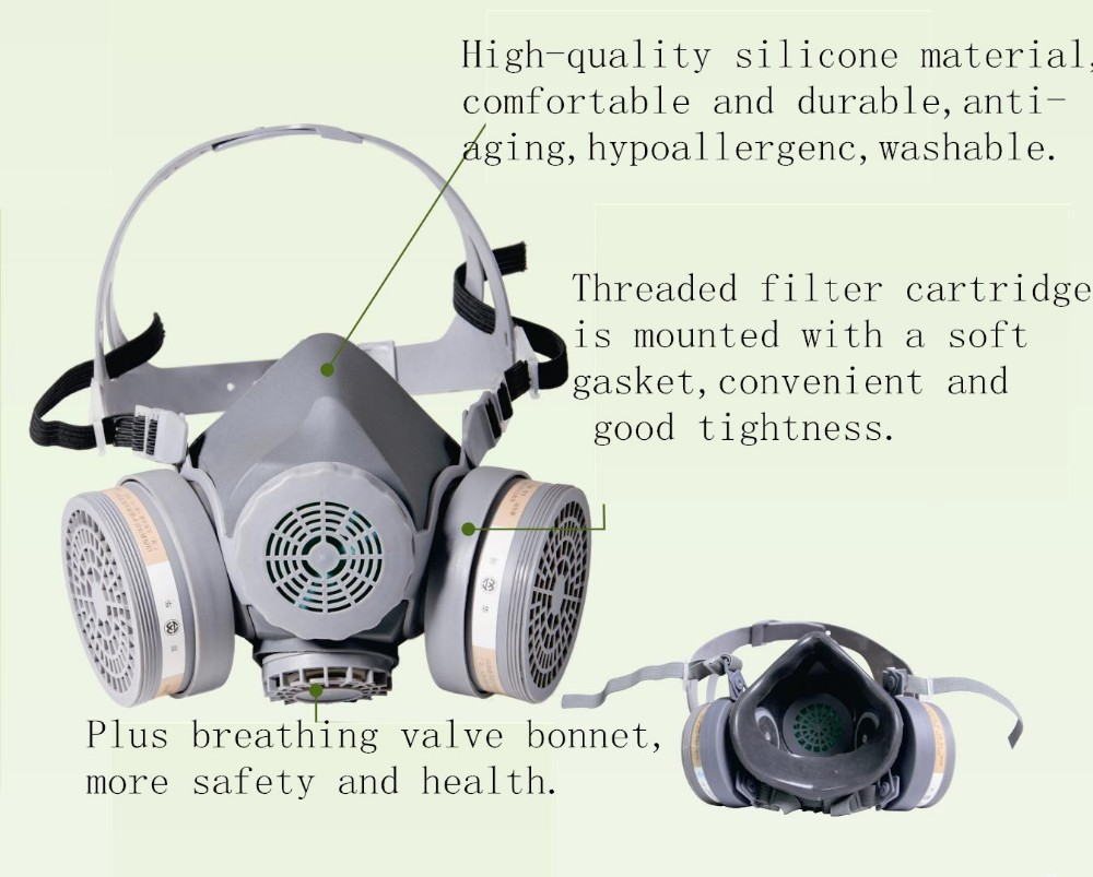 MF26 type double box half gas mask
