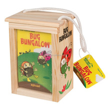 wooden bug box wooden Bungalow Insect Box with mesh