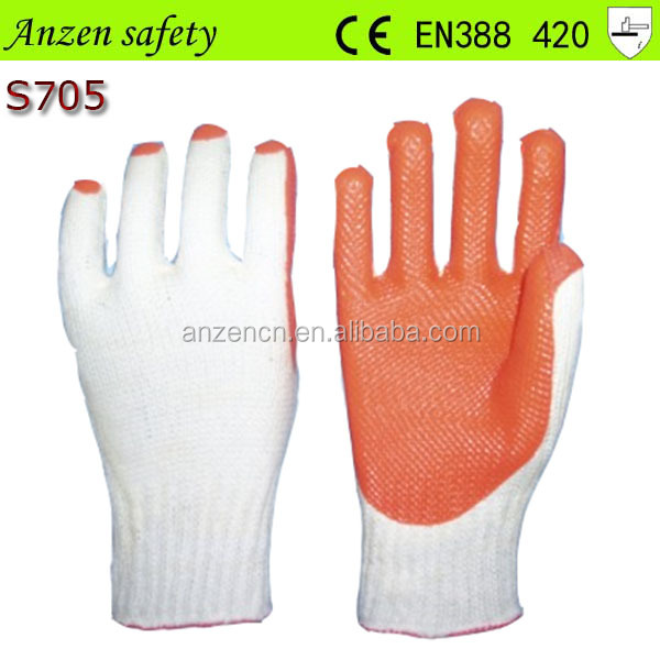 rubber palm coated labor safety work glove with en388