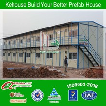 prefabricated steel hotel two story low cost fast build