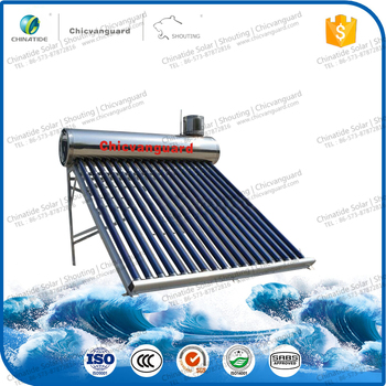 Food Grade Stainless Steel vacuum tube solar water heater